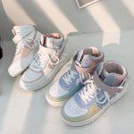 Soft Girl Harajuku Kawaii Aesthetic Autumn Winter High-Top Sneakers 3