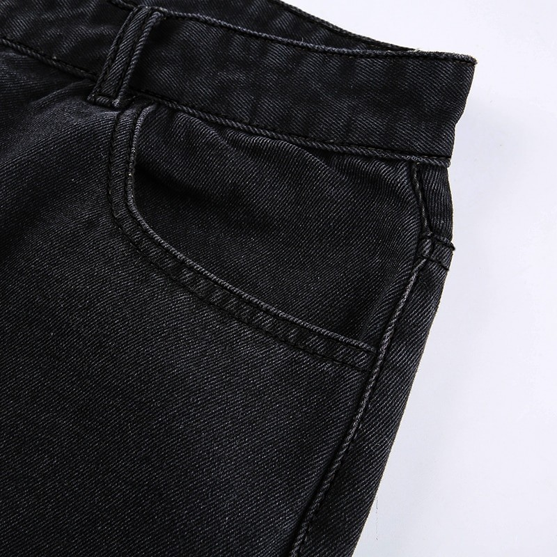E-girl Punk Grunge Y2K High Waist Jeans with Holes 46