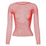 Punk E-girl Gothic Fishnet Bodystocking Long Sleeve Underwear 3
