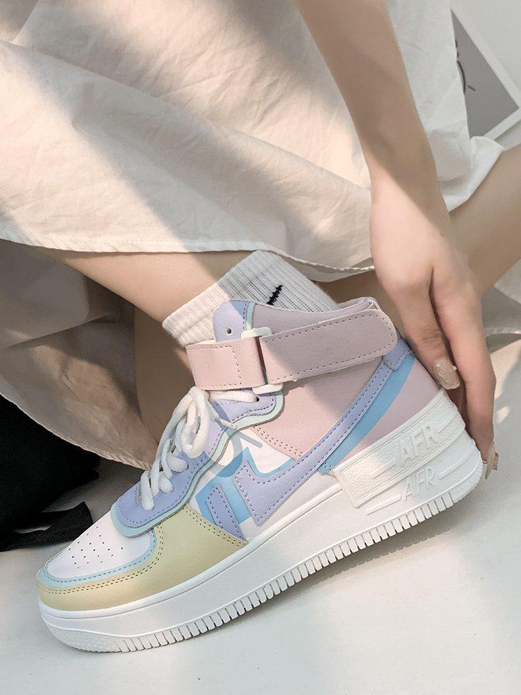 Soft Girl Harajuku Kawaii Aesthetic Autumn Winter High-Top Sneakers 59