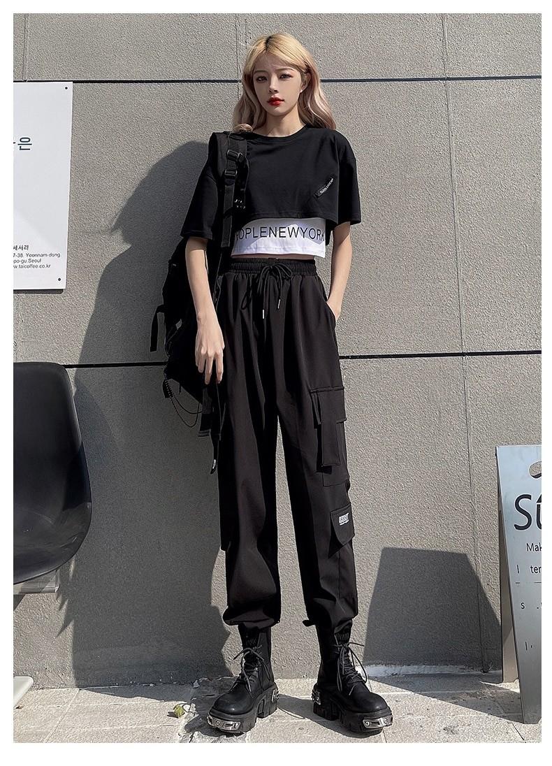 Harajuku E-girl Set Cargo Pants Sweatshirt Tank Top 47
