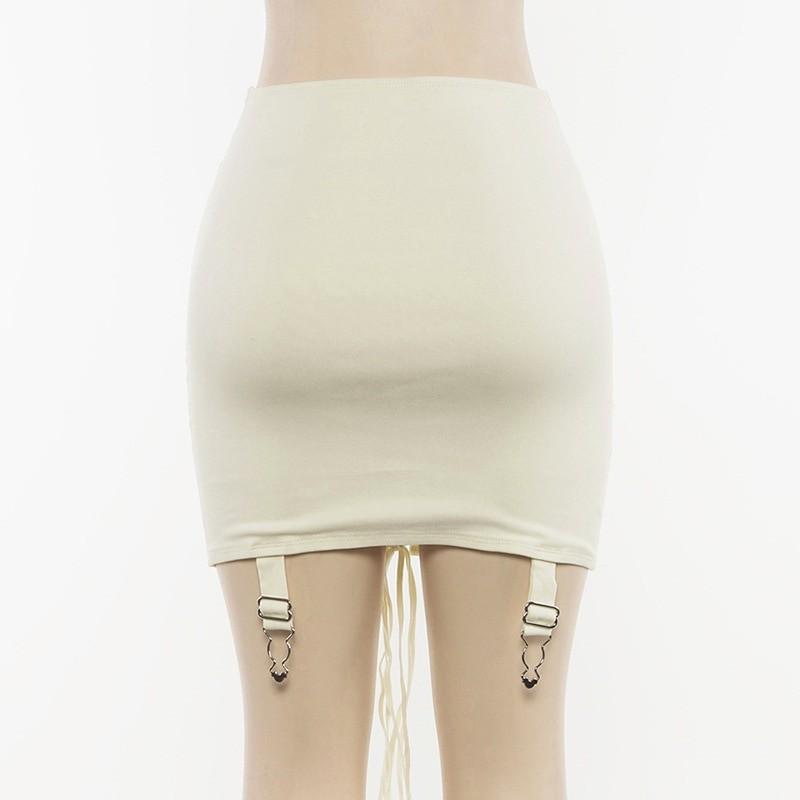 Pastel Gothic E-girl Punk Y2K Mini Lace Up Aesthetic Skirts 56