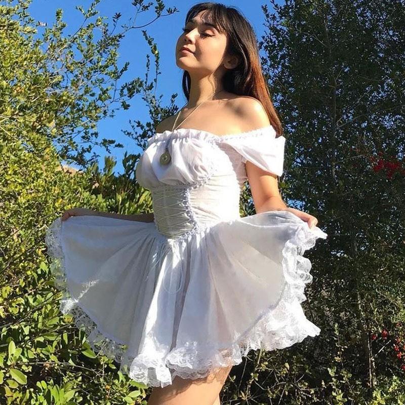 Harajuku E-girl Pastel Goth Soft girl Lolita Princess Mini Dress 53