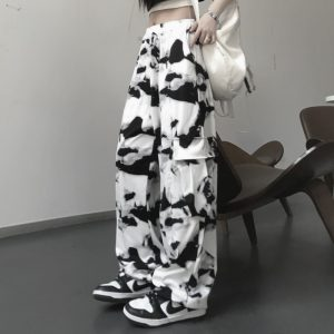 E-girl E-boy Punk Harajuku Cargo Pants Tie Dye 1