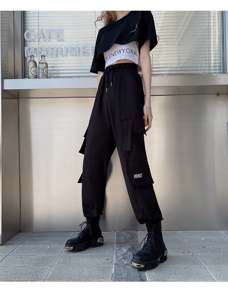 Harajuku E-girl Set Cargo Pants Sweatshirt Tank Top 48