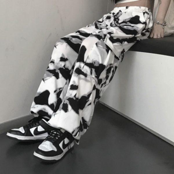 E-girl E-boy Punk Harajuku Cargo Pants Tie Dye 6