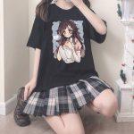 E-girl Harajuku Kawaii Mikan Tsumiki Anime T-shirt 4
