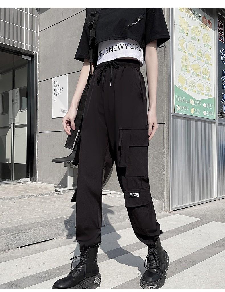 Harajuku E-girl Set Cargo Pants Sweatshirt Tank Top 50