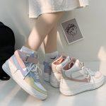 Soft Girl Harajuku Kawaii Aesthetic Autumn Winter High-Top Sneakers 5