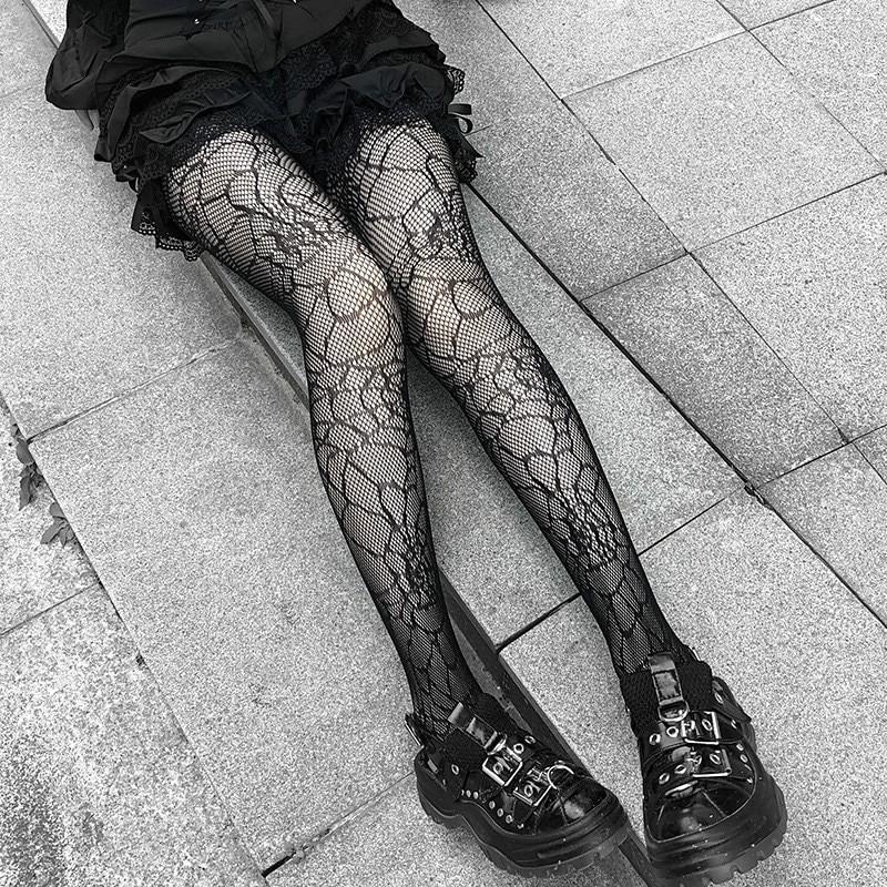E-girl Pastel Gothic Punk Spiderweb Tights 41