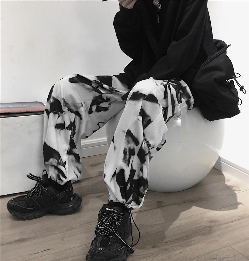 E-girl E-boy Punk Harajuku Cargo Pants Tie Dye 49