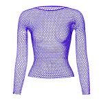 Punk E-girl Gothic Fishnet Bodystocking Long Sleeve Underwear 6