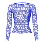 Punk E-girl Gothic Fishnet Bodystocking Long Sleeve Underwear 4