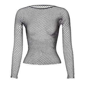 Punk E-girl Gothic Fishnet Bodystocking Long Sleeve Underwear 1