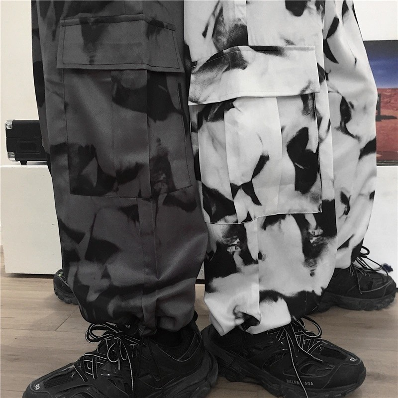 E-girl E-boy Punk Harajuku Cargo Pants Tie Dye 43