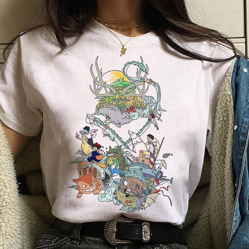 Harajuku Anime Spirited Away Kawaii T-shirt 47