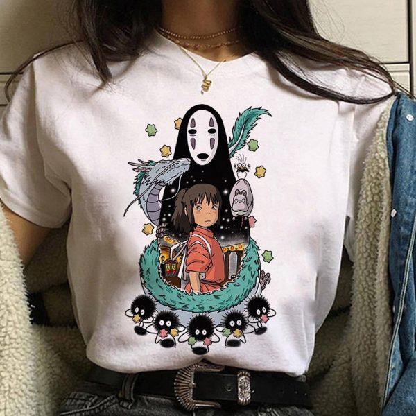 Harajuku Anime Spirited Away Kawaii T-shirt 1