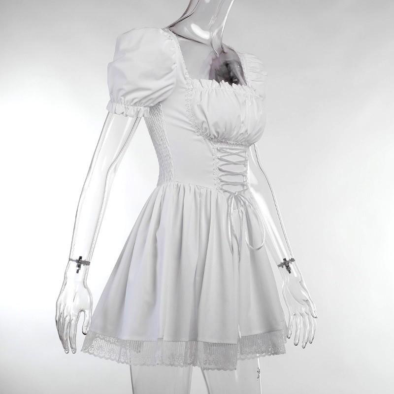 Harajuku E-girl Pastel Goth Soft girl Lolita Princess Mini Dress 57
