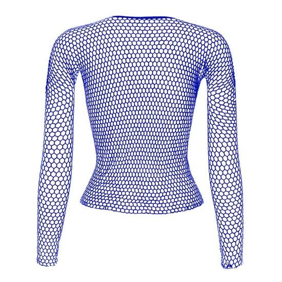 Punk E-girl Gothic Fishnet Bodystocking Long Sleeve Underwear 48
