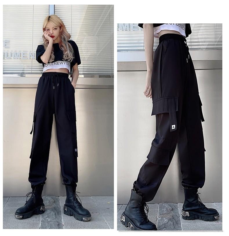 Harajuku E-girl Set Cargo Pants Sweatshirt Tank Top 46