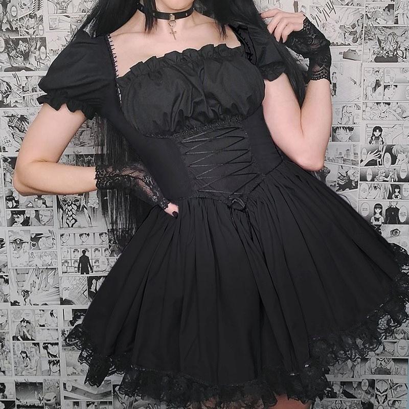 Harajuku E-girl Pastel Goth Soft girl Lolita Princess Mini Dress 48
