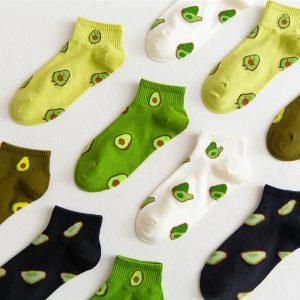 E-girl Soft girl Harajuku Cotton Socks with Fruits print 1