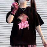 E-girl Pastel Gothic Punk Harajuku T-shirts Ratz print 2