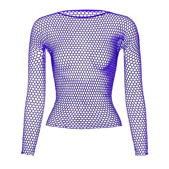 Punk E-girl Gothic Fishnet Bodystocking Long Sleeve Underwear 51
