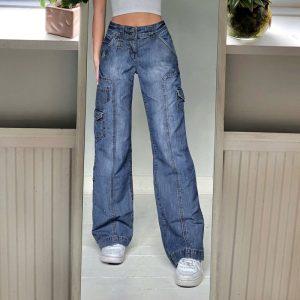 Y2K E-girl Harjuku High Waist Jeans with Pockets 21