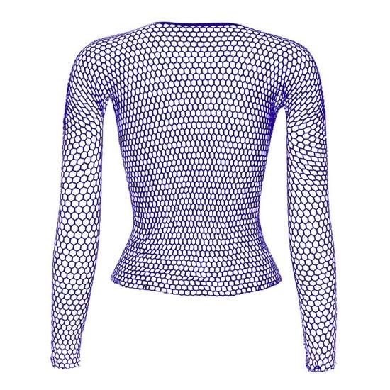 Punk E-girl Gothic Fishnet Bodystocking Long Sleeve Underwear 52