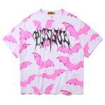 E-girl Soft Girl Kawaii Pastel Goth Pink Bat Graphic T-Shirt 2