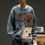 E-boy Harajuku Y2K Cartoon Bear Aesthetic Sweater 7