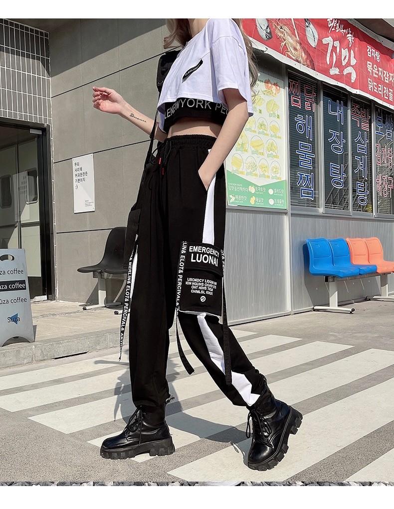 Harajuku E-girl Set Cargo Pants Sweatshirt Tank Top 43